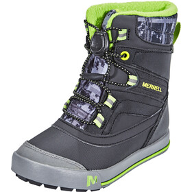 Merrell Snow Bank 2.0 Waterproof Bottes Enfant, black/grey/green